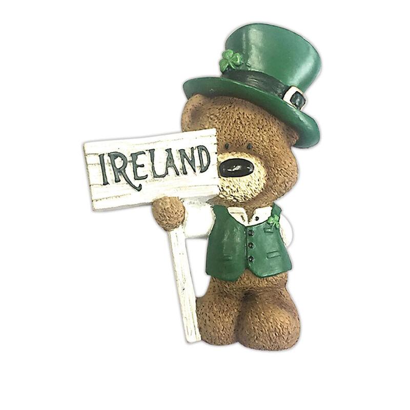 Paddy Bear Irish Designed Resin Magnet With Ireland Sign