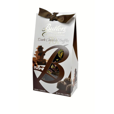 Butlers Dark Chocolate Truffles In Tapered Box  170G