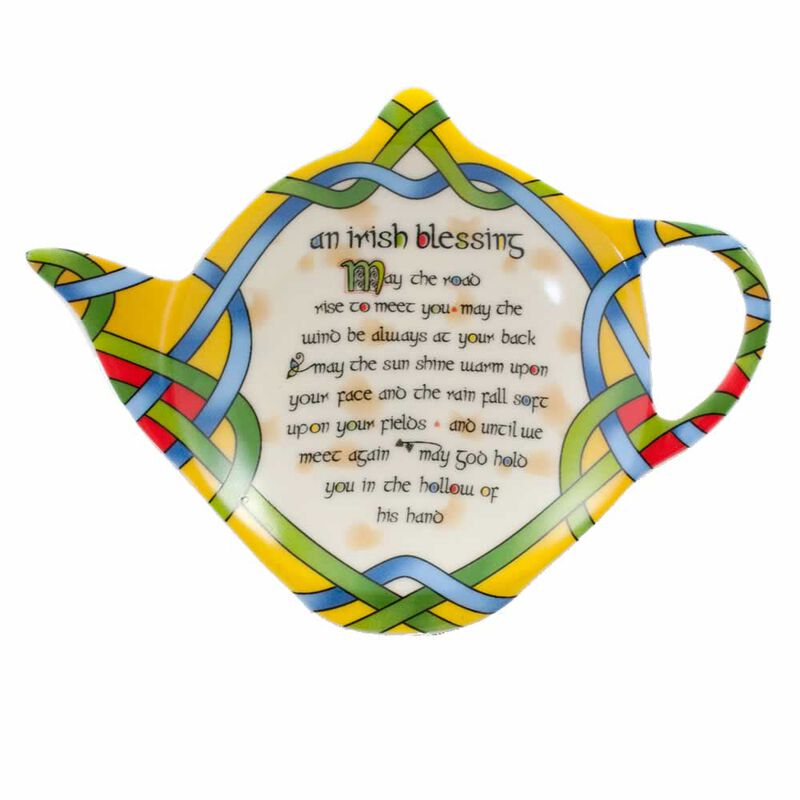 Tea Bag Holder  Irish Weave Blessing