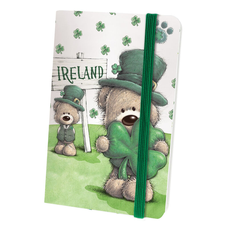 Paddy Bear Irish Designed Notebook With Shamrock Design