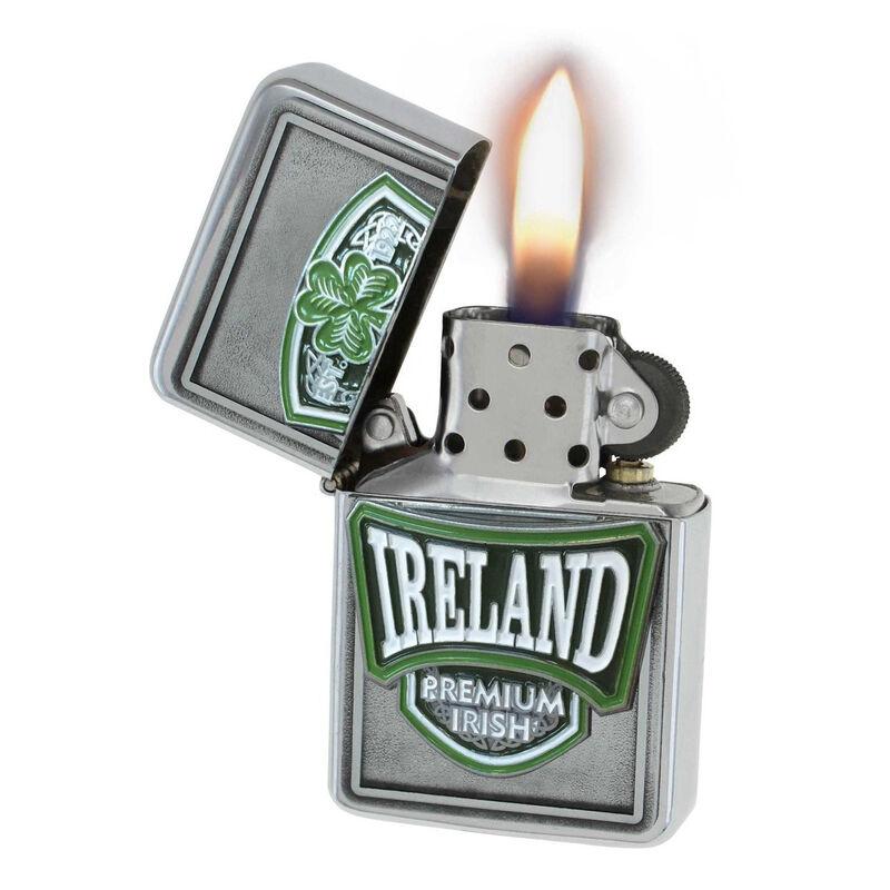 Nachfüllbares Feuerzeug im irischen College-Stil und mit Wappen