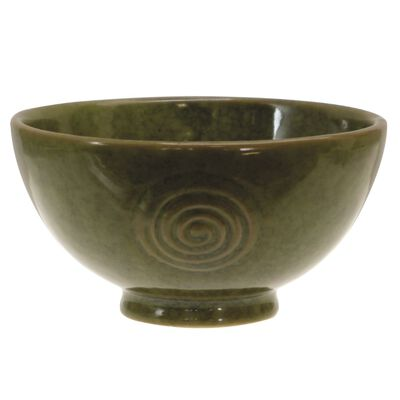 Watervale Pottery Quality Ceramic Irish 11Cm Bowl  Green Colour