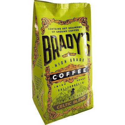 CLEARANCE - Bradys High Grade Irish Roast Ground Coffee  Celtic Blend 227G
