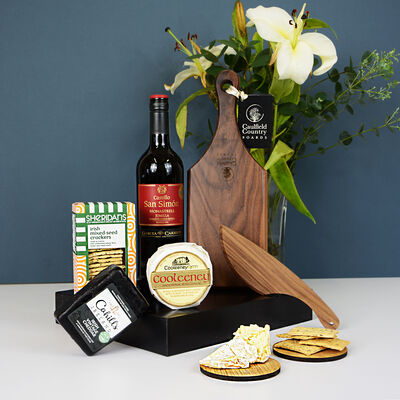 Cheese With Cheese Board & Red Wine Gift Set (Ireland Only)