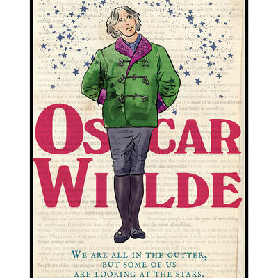 Oscar Wilde – Hard Paper Irish Design Print With Cardboard Insert