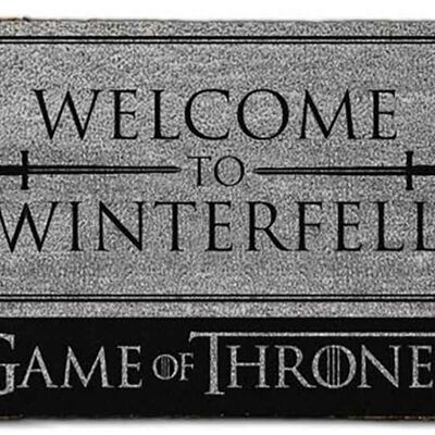 Game Of Thrones Welcome To Winterfell Doormat House Stark Welcome Mat