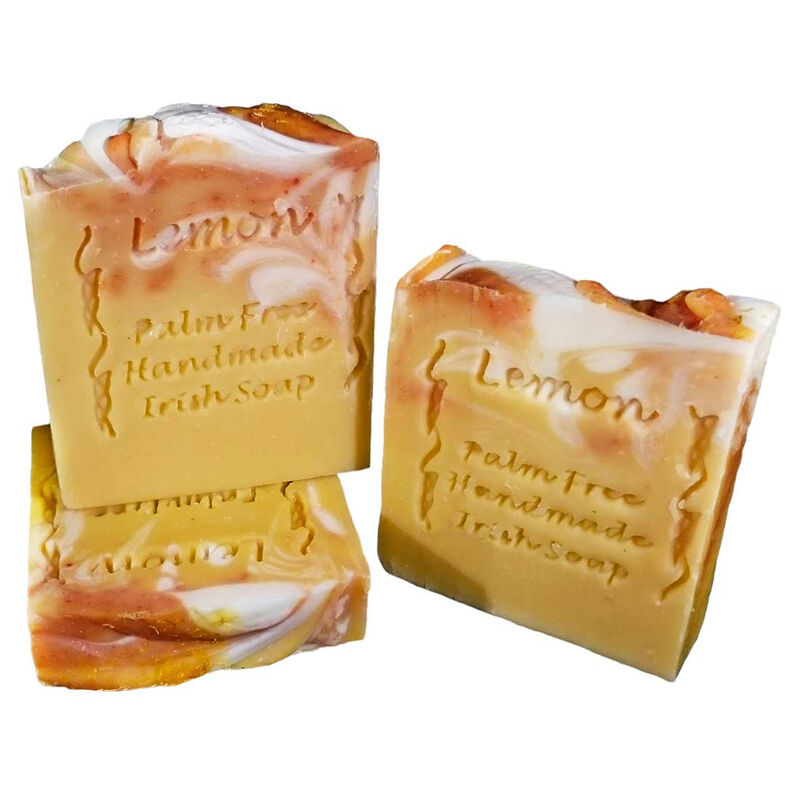 Palm Free Marbled Lemon Freesia Soap Bar – Handcrafted in Ireland