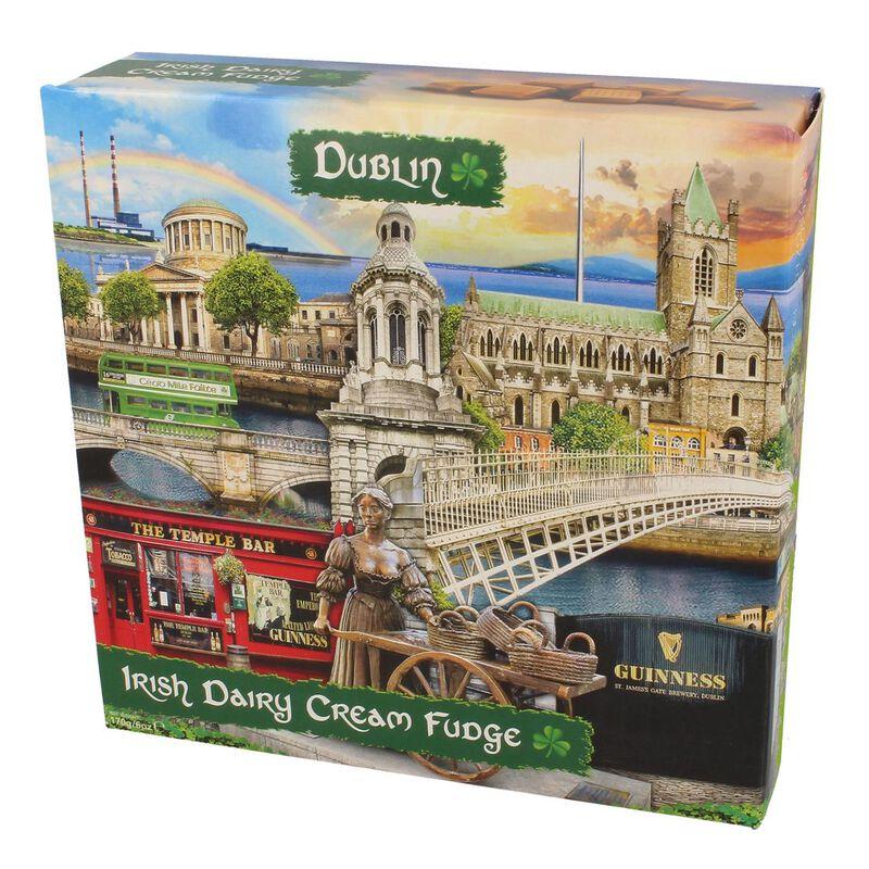 Dublin Famous Landmarks Montage Irish Dairy Cream Fudge  170G