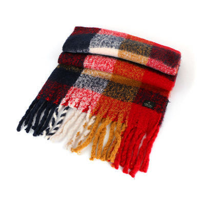Celtic Ore Black Red Yellow White Colour Soft Oversized Wrap Scarf
