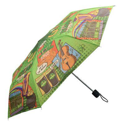 Ireland Pop Art And Irish Sayings Design Mini Collapsible Umbrella