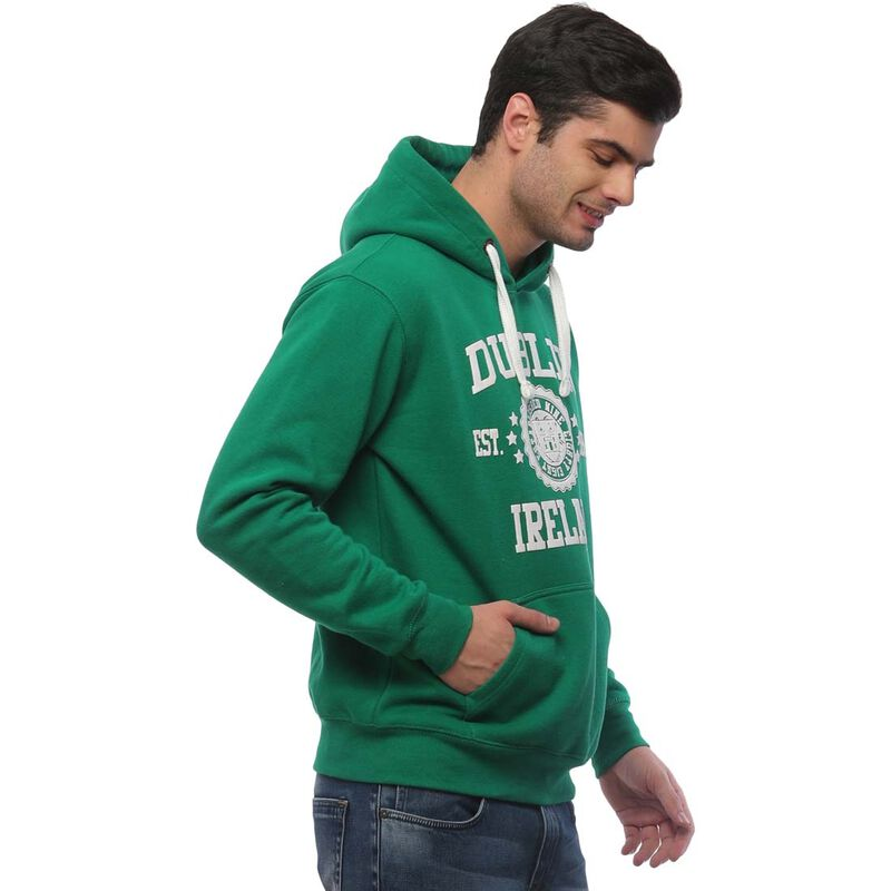Pullover Hoodie With Dublin Ireland Est 988 Print  Kelly Green Colour