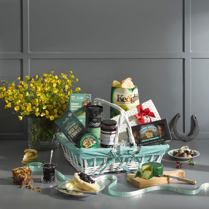 The Little Basket Of Irish Treats Artisan Gift Hamper In A Wicker Basket
