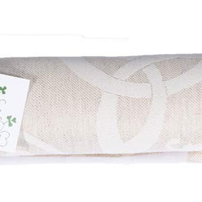 Natural Damask Irish Linen Tablecloth 60''x90'' Presented in a Box