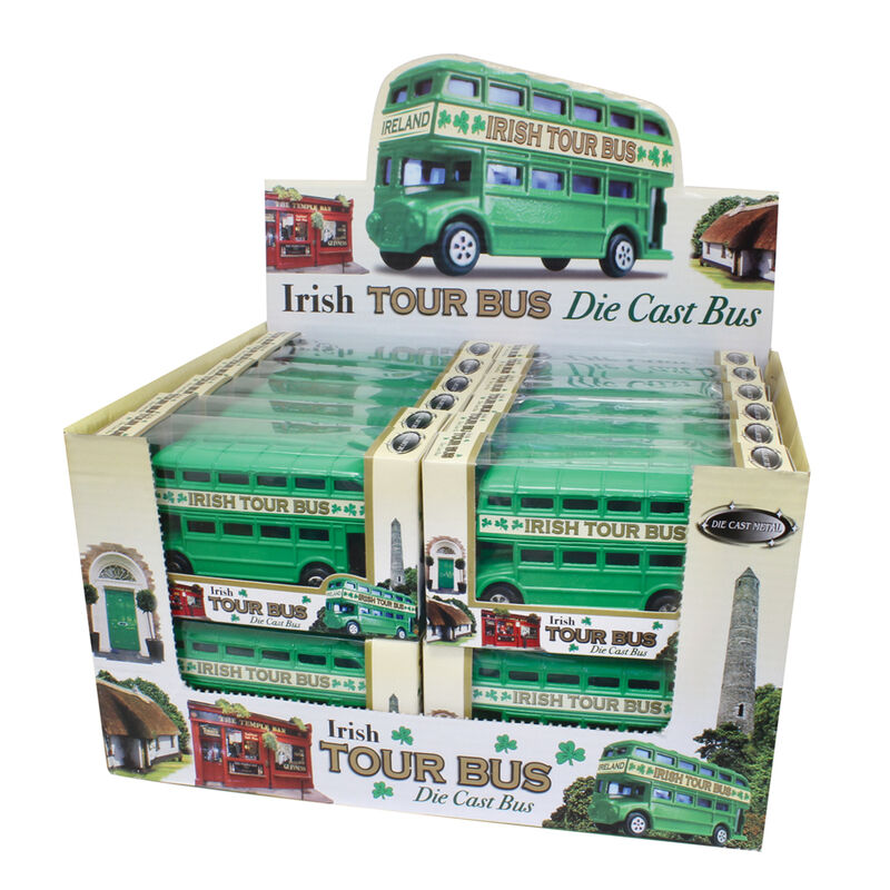 Green Ireland Double Decker Bus Souvenir 3.5