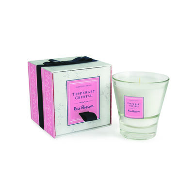Tipperary Crystal Designed Tumbler Rose Blossom Scented Candle