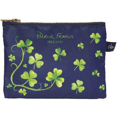 Patrick Francis Navy Colour Beautiful Small Purse With Shamrock Design