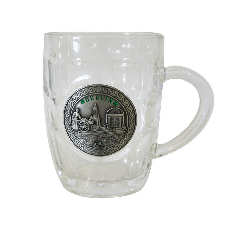 Dimple Tankard With Dublin Designed Pewter Badge