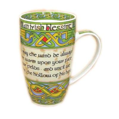 Irish Weave Keramikbecher Kollektion mit Irish Blessing Druck