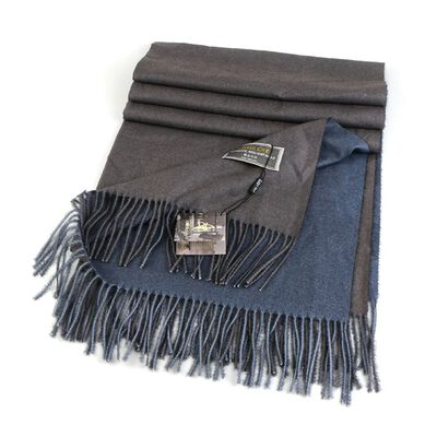 Celtic Ore Authentic Irish Two-Sided Scarf  Grey/Chocolate Colour
