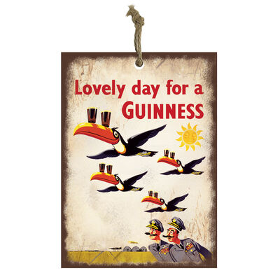 Official Guinness Mini Metal Bar Sign With Flying Toucan Design