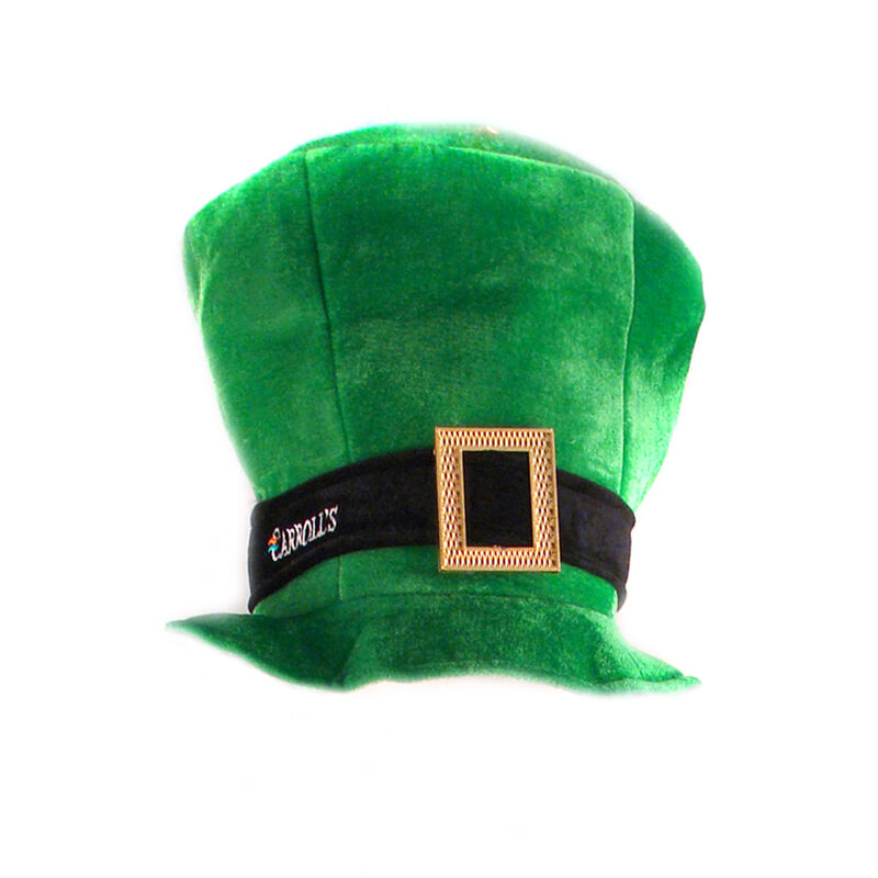 Grenn Leprechaun Top Hat With Gold Buckle