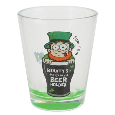 Loose Shot Glass With Looney Lep In Pint Design