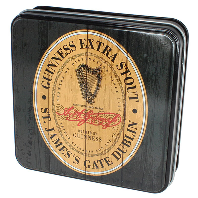 Guinness Gift Tin Of Fudge With The Heritage Extra Stout Label Design  100g