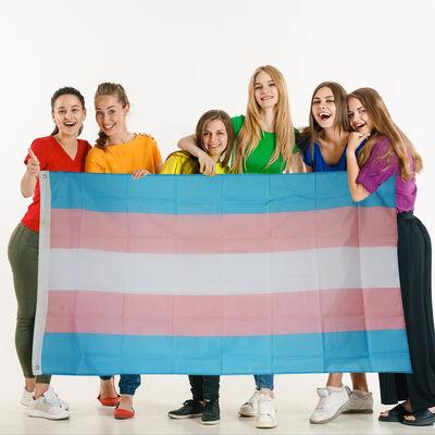 Transgender Flag 100% Polyester ( 3 X 5 Foot)