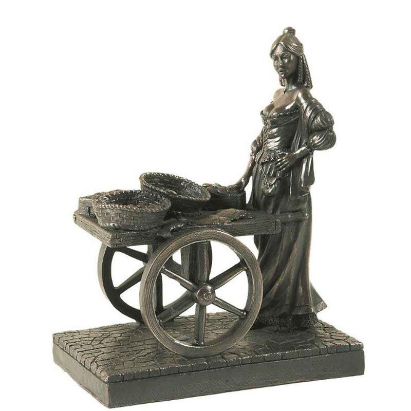 """6.5"""" Molly Malone Bronze Statue"""