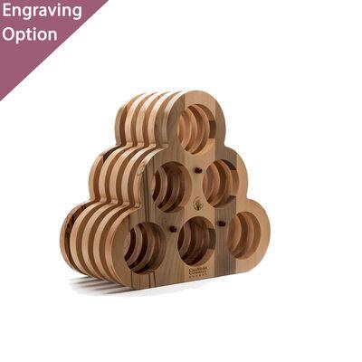 Handmade Wooden Wine Rack - Holds 6 Bottle