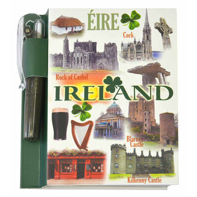 Famous Landmarks Of Ireland Notebook With Matching Clip-On Pen