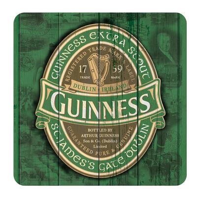 "Nostalgischer Guinness-Untersetzer mit Text ""Extra Stout St. James's Gate Dublin"""