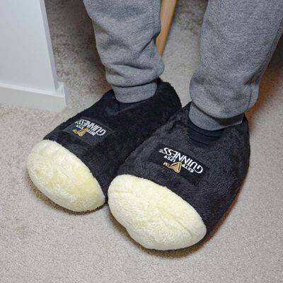 Guinness Black Giant Pint Slippers With Signature Emblem