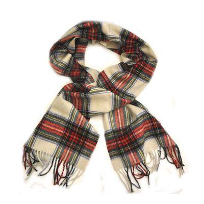 Carrolls Irish Designs Wool Scarf  White Colour