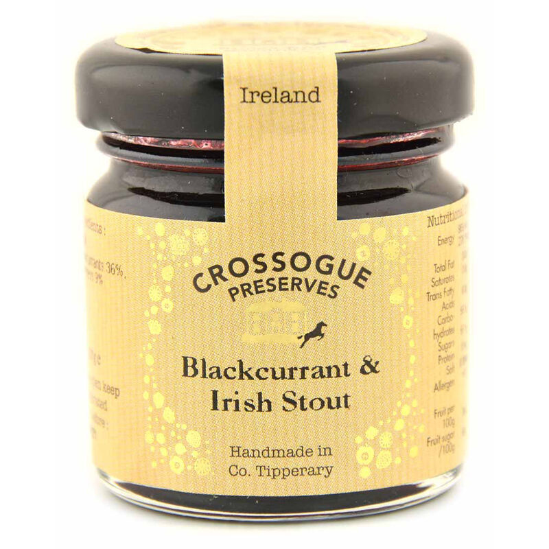 Handmade In Ireland Crossogue Preserves Blackcurrant and Irish Stout Jam  37G
