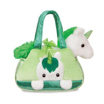 Fancy Pal White Fluffy Irish Unicorn Super Cute Soft Toy Handbag
