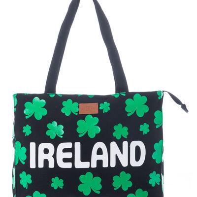 Robin Ruth Naomi Ireland Canvas Bag With Green Shamrocks Design