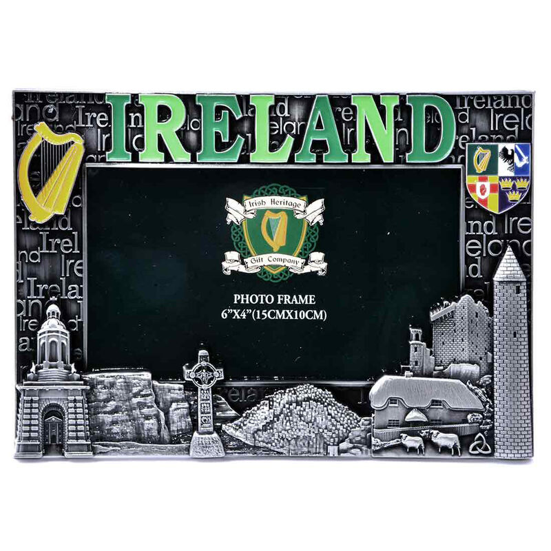 "Ireland Designed Metal Picture Frame  6"" X 4"""