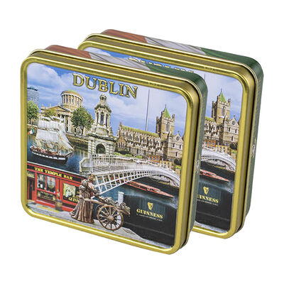 CLEARANCE - Luxury Dairy Cream Irish Fudge With Dublin Montage Designed Tin, 100G ( Two Pack)
