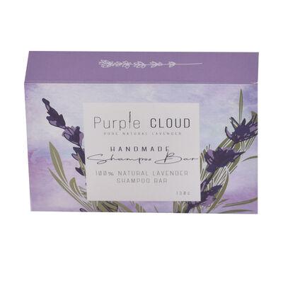 Purple Cloud Handmade Pure Natural Lavender Shampoo Bar, 100G