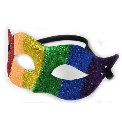 Pride Coloured  Mask With Pride Ireland Glitter  Design With Elastic Strap