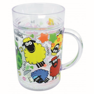 Wacky Woollies Double Walled Tumbler With Handle