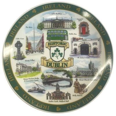 Dublin Designed Ceramic 20Cm Plate Of Famous And Historic Landmarks