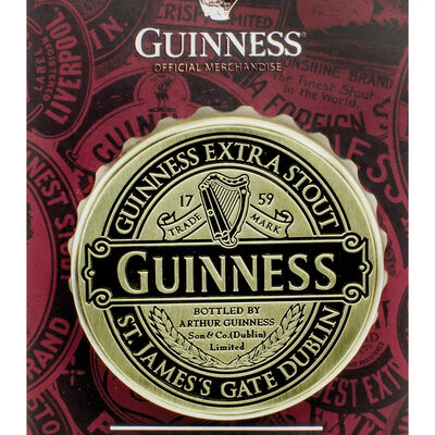 Guinness Screwcap Bottle Opener Magnet With Classic Collection Label Design