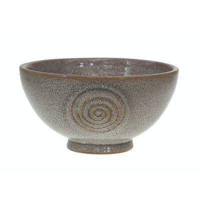 Watervale High-Quality Pottery 11Cm Bowl With Celtic Spiral  Grey Colour