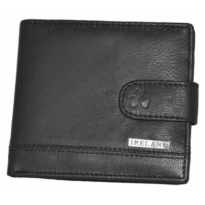 McCabe Collection Ireland Quality Genuine Leather Wallet  Black Colour