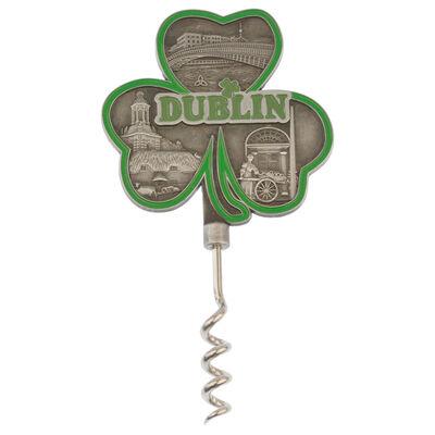 Dublin Shamrock Shaped Corkscrew With Landmark Design