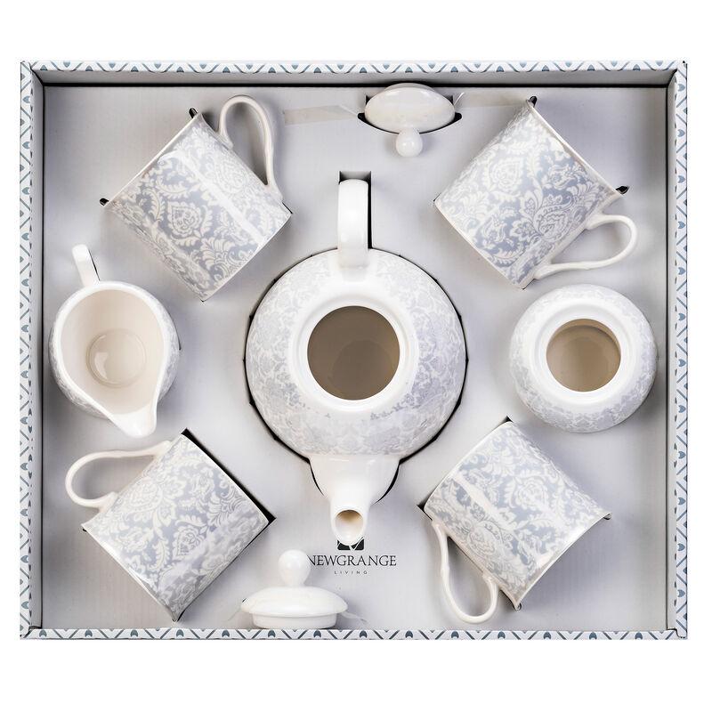 Newgrange Living Bella 7 Piece Bone China Tea Pot & Mug Set