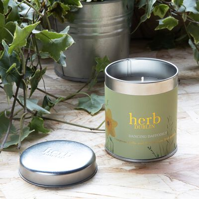 Dancing Daffodils 35 Hour Soy Wax Candle From Herb Dublin  180g
