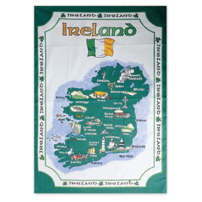 Irish T-Towel With Historical Map